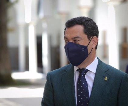 Moreno propone este lunes a los técnicos que sea obligatorio el uso de la mascarilla en Andalucía