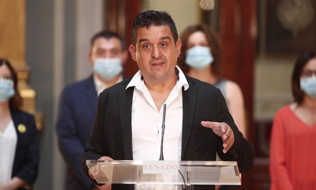 El senador de Compromís, Carles Mulet, interviene en el pleno celebrado en el Senado sobre diferentes mociones. En Madrid, (España), a 1 de julio de 2020.