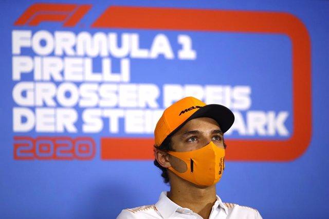 """Fórmula 1/GP Estiria.- Lando Norris, """"tratado"""" por un dolor en el pecho"""