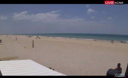 Cuatro cámaras permiten conocer en tiempo real el estado de la playa de Camposoto de San Fernando (Cádiz)