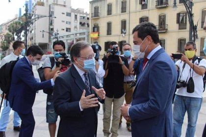 Moreno ofrece a Ceuta entrar en Extenda y sumarse al Plan Estratégico de Puertos andaluces