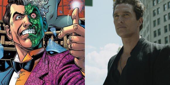 1. Matthew McConaughey es Dos Caras en The Batman de Robert Pattinson en este fan-art