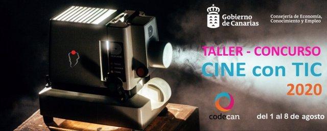 Cartel de la sexta edición del Taller Cine con TIC