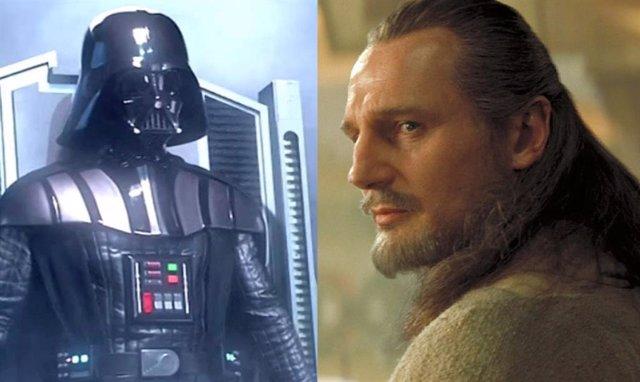 Darth Vader y Qui-Gon Jinn en Star Wars