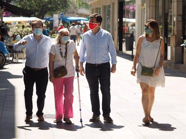 Gonzalo Caballero en la jornada de reflexión con sus padres en Ponteareas