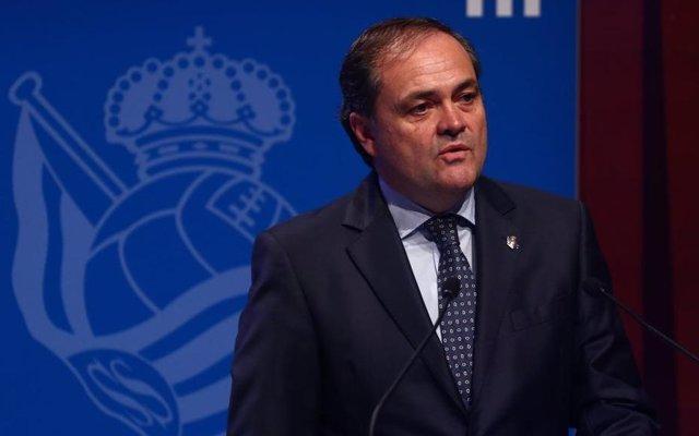 Fútbol.- El presidente de la Real Sociedad, Jokin Aperribay, suspendido tres par