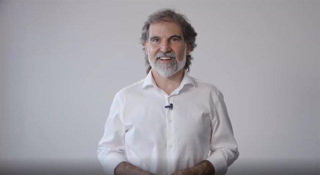 El presidente de Òmnium Cultural, Jordi Cuixart, dirige un mensaje en video a los socios de la entidad en el día que cumple 1.000 días de cárcel, el 11/7/2020