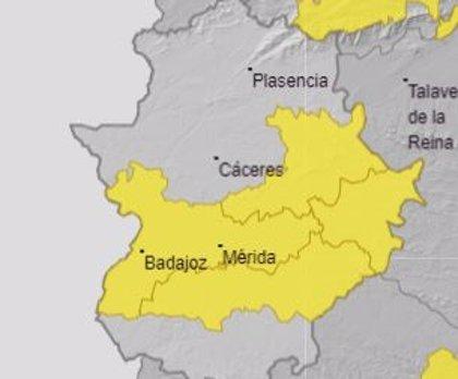 Los avisos por calor continuarán el domingo en la zona centro de Extremadura con valores de hasta 39 grados