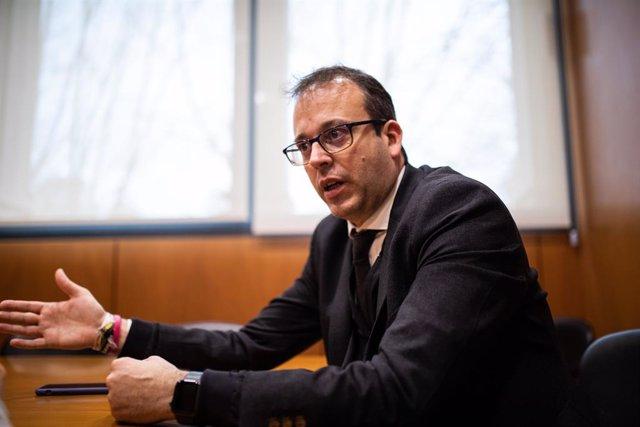 El portaveu del PDeCAT en el Parlament, Marc Solsona, durant l'entrevista