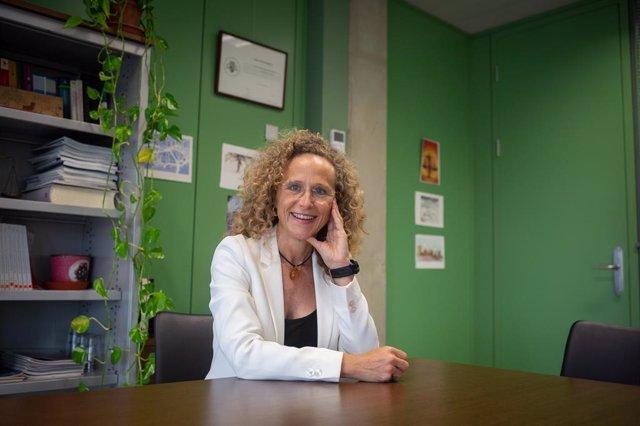 La jutgessa degana de Barcelona, Mercè Caso, en una entrevista d'Europa Press en la Ciutat de la Justícia de Barcelona.