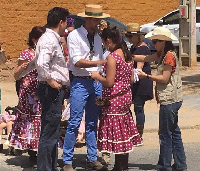 Campañas de colaboración y sensibilización con hermandades rocieras y Asociación de Guías de Doñana.