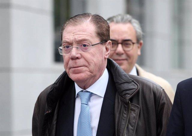 El ex consejero delegado del Banco de Valencia, Domingo Parra, a su llegada a la  Audiencia Nacional, en una imagen de archivo
