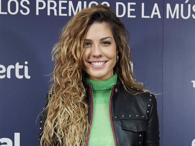 Singer Miriam Rodriguez attends the Cadena Dial Awards 2019 press conference on January 22, 2019 in Madrid, Spain.