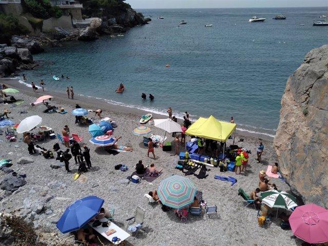 Zona oeste de la playa San Cristóbal de Almuñécar
