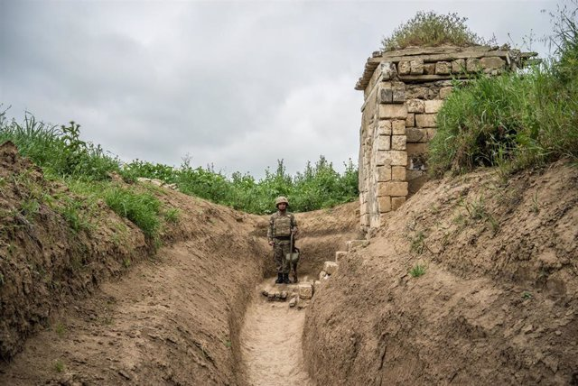 La línea del frente en Nagorno Karabaj