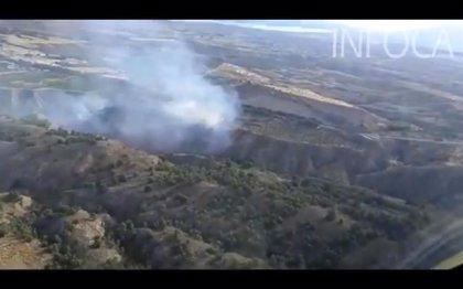 Extinguido el incendio forestal de Guadix (Granada)