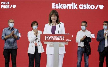 """Mendia, satisfecha por """"el liderazgo de la izquierda no nacionalista"""", pide """"celeridad"""" para formar Gobierno"""