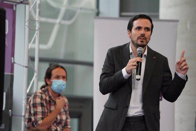 El coordinador federal de IU y ministro de Consumo, Alberto Garzón