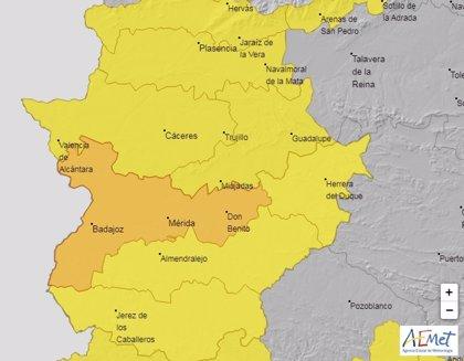 Las Vegas del Guadiana estarán el lunes y el martes en alerta naranja por calor y el resto de Extremadura en amarillo