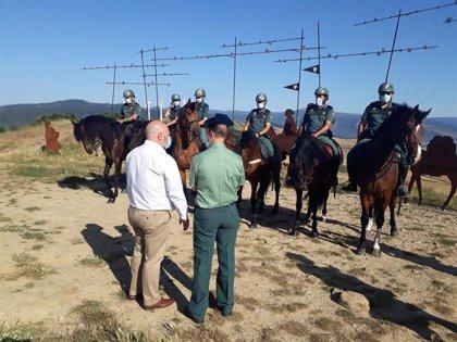 La Guardia Civil moviliza al Escuadrón de Caballería para vigilar tramos del Camino de Santiago en Navarra