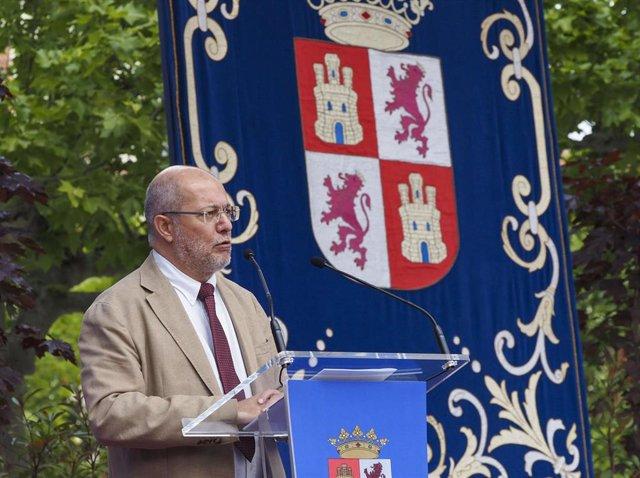El vicepresidente de la Junta de Castilla y León, Francisco Igea, en un acto oficial en Valladolid.