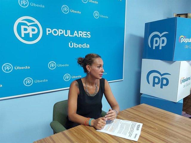 La concejala del PP en el Ayuntamiento de Úbeda Chesca Martínez