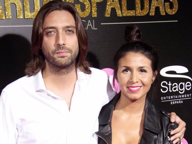 """Sara Verdasco y Juan Carmona, en el estreno del musical """"El guardaespaldas"""""""