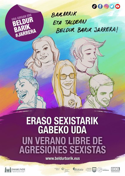 Emakunde, diputaciones y Eudel ponen a disposición de ayuntamientos la campaña 'Un verano libre de agresiones sexistas'