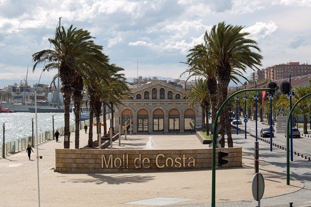 El Moll de la Costa en el Port de Tarragona