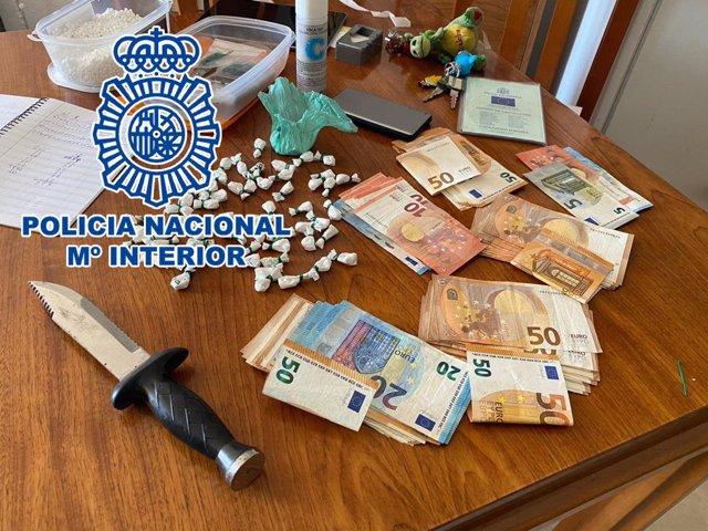 La Policia Nacional desarticula una organització criminal dedicada al trànsit d'estupefaents a Benidorm