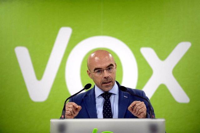 El miembro del Comité Ejecutivo Nacional de Vox y portavoz del Comité de Acción Política, Jorge Buxadé