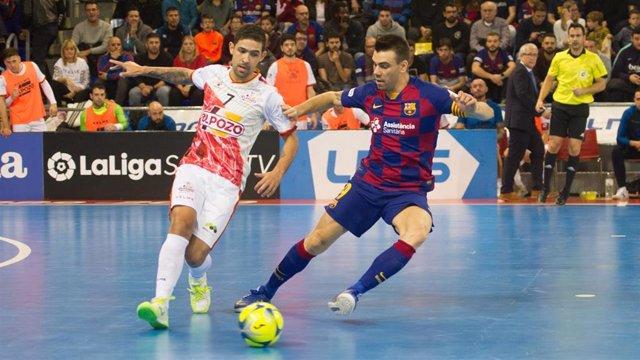 Imagen de un partido entre ElPozo Murcia y el FC Barcelona de la LNFS