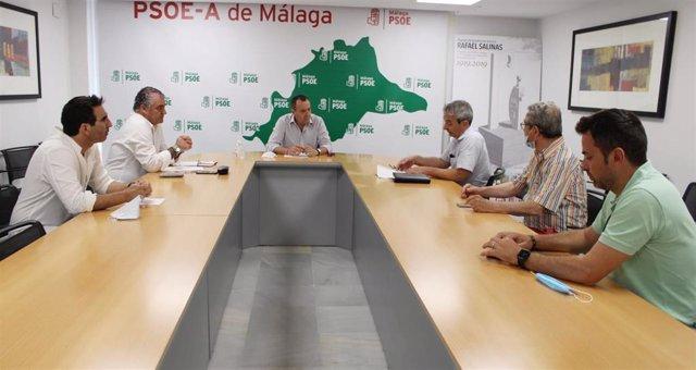 Jose Luis Ruiz Espejo (PSOE) en rueda de prensa en Malaga
