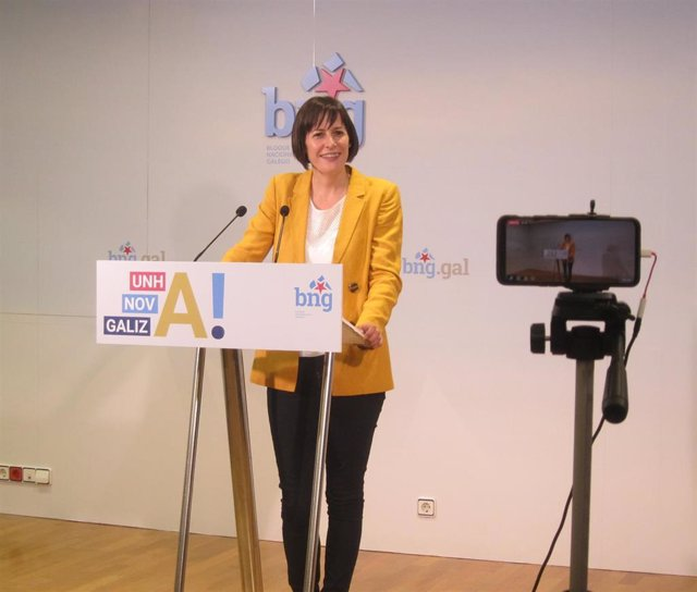 Ana Pontón en rueda de prensa el día siguiente de las elecciones en Galicia