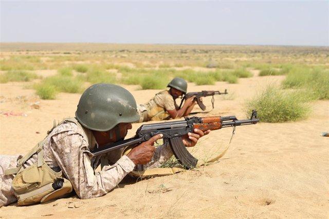 Soldados yemeníes (Imagen de archivo)