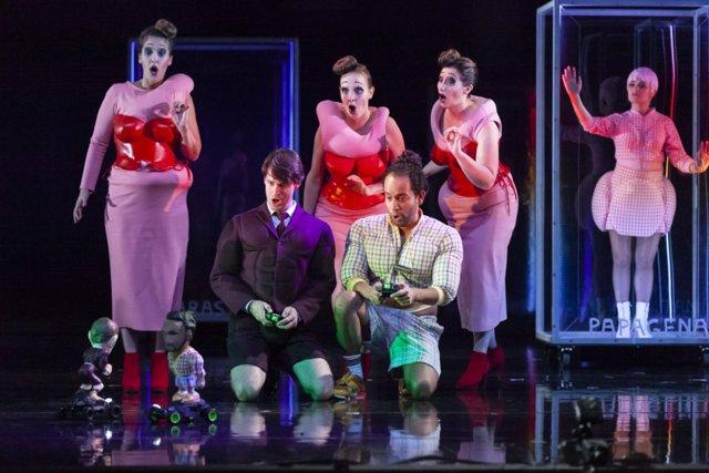 Producción de ópera 'La flauta mágica' de Mozart de Opera Zuid.