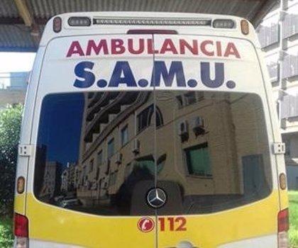 Un ciclista de 48 años sufre contusiones y una conmoción en un accidente con un coche en Xàbia