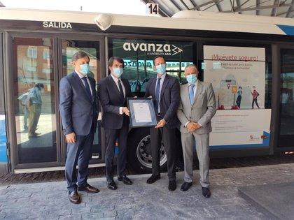 El transporte metropolitano de Salamanca obtiene el certificado AENOR frente a la COVID