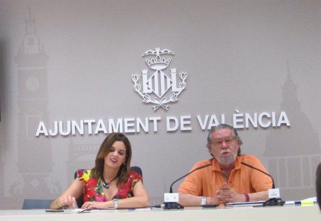 La vicealcaldesa de València, Sandra Gómez, i l'edil Ramón Vilar, en una imatge d'arxiu.