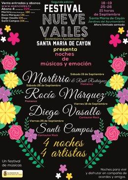 Cartel festival Nueve Valles de Santa María de Cayón