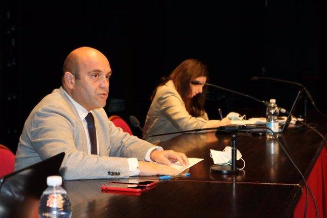 Pleno de renuncia del alcalde de Cartaya, Alexis Landero.