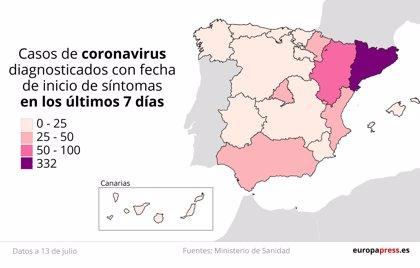 Mapa rebrotes: Empeora la situación en Aragón y desconcierto en Lleida por la orden judicial contra el confinamiento