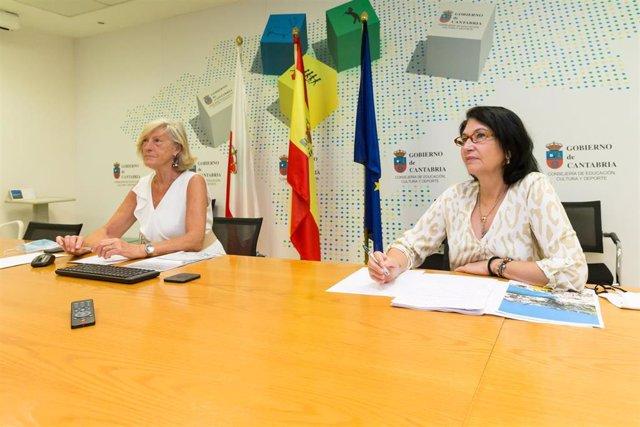 Consejera y directora de Turismo de Cantabria, Marina Lombó y Eva Bartolomé