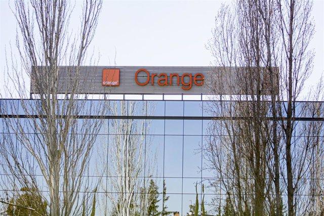 Sede de la empresa Orange en el Parque Empresarial La Finca de Pozuelo de Alarcón, en Madrid.