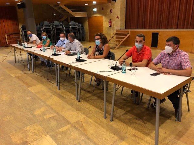 Alcaldes de Aitona, La Granja d'Escarp, Soses, Seròs, Torres de Segre y Alcarràs (Lleida)