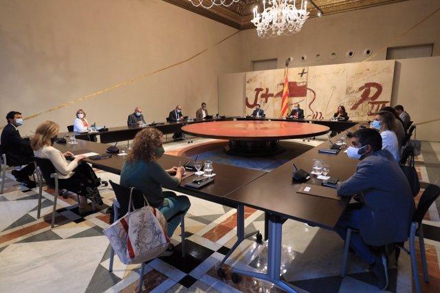 El Govern durante el Consell Executiu extraordinario