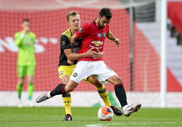 Bruno Fernandes en el Manchester United - Southampton