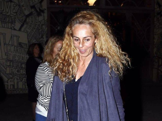 Rocío Carrasco, en una imagen de archivo, después de disfrutar de una cena en la capital