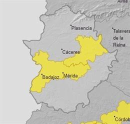 Alertas por calor para el 14 de julio en Extremadura
