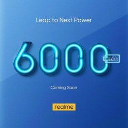 Realme trabaja en un nuevo 'smartphone' con batería de 6.000 mAh